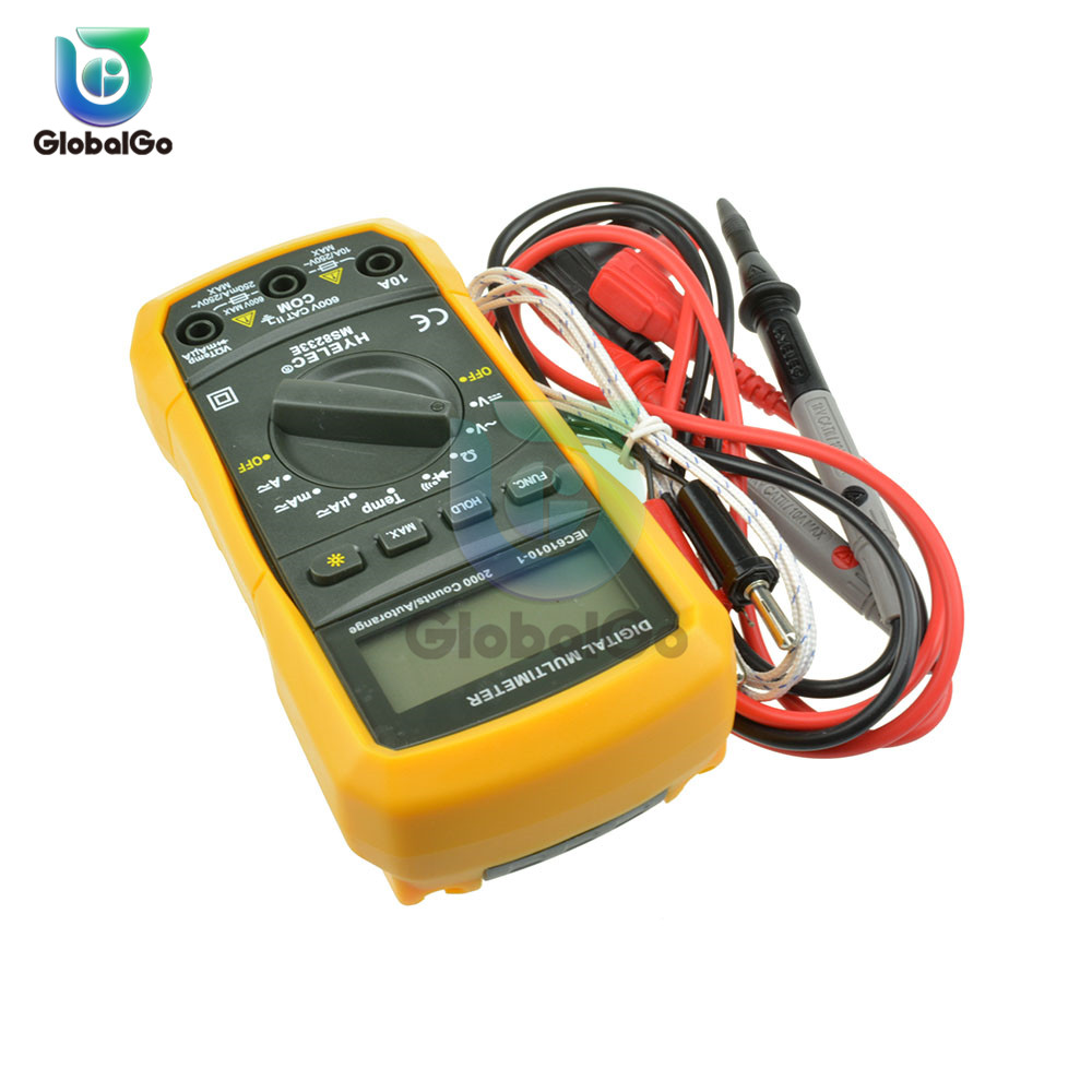 MS8233E Mini LCD Digital Multimeter Auto Ranging AC DC Volt Amp Ohm Tester Meter Back Light Handheld LCD Multimetro in Multimeters from Tools