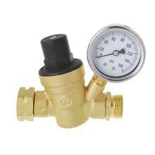 Регулятор давления воды для RV Кемпер латунь бессвинцовый Регулируемый RV редуктор давления воды 160PSI63HF