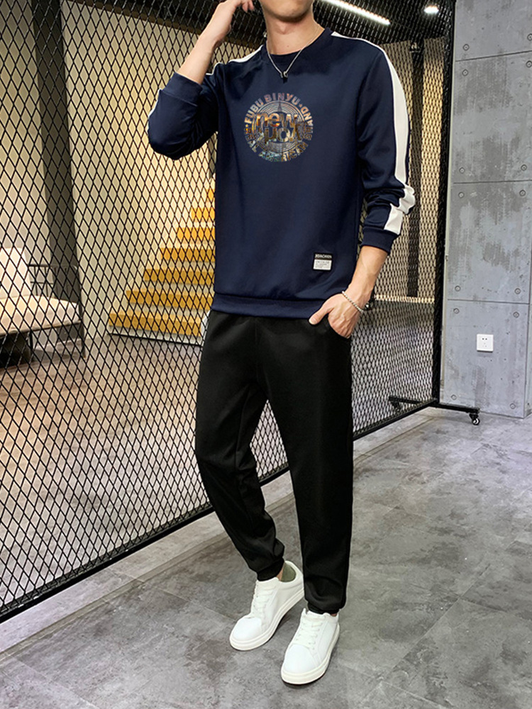 2019 Autumn New Style Sports MEN'S Casual Suit Trousers Youth Popularity Fashion Fashion