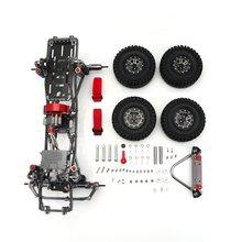 1/10 RC Car Frame Kit CNC Aluminum Alloy Set for SCX10 AXIAL Crawler Climbing DIY Parts & Accessory