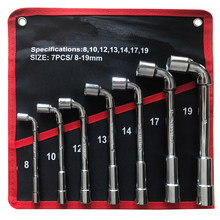 L Type Auto Reparatie Tool Dopsleutel Set 7/12 Pcs High Carbon Staal Reparatie L Spanner Toetsen Met pouch Pack Pijp Perforatie Wrench(China)