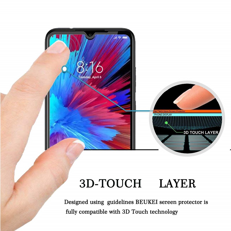 Image 5 - VSKEY 100pcs 2.5D Full Glue Tempered Glass for Xiaomi Redmi Note 8 Pro Full Cover Screen Protector Protective Film-in Phone Screen Protectors from Cellphones & Telecommunications