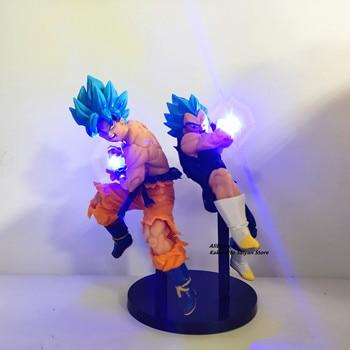 Dragon Ball Super Goku Vegeta God Led Kamehameha Action Figures Z Anime Saiyan Blue Figurine Toys