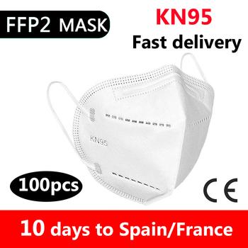 10 50 100 sztuk maska certyfikat ce jednorazowe dorosłych ffp2reutilizable mascherine KN95 Mascarillas maska usta maski ochronne tanie i dobre opinie FODRK Z Chin Kontynentalnych osobiste Dla osób dorosłych GB2626-2006 10 50 100pcs