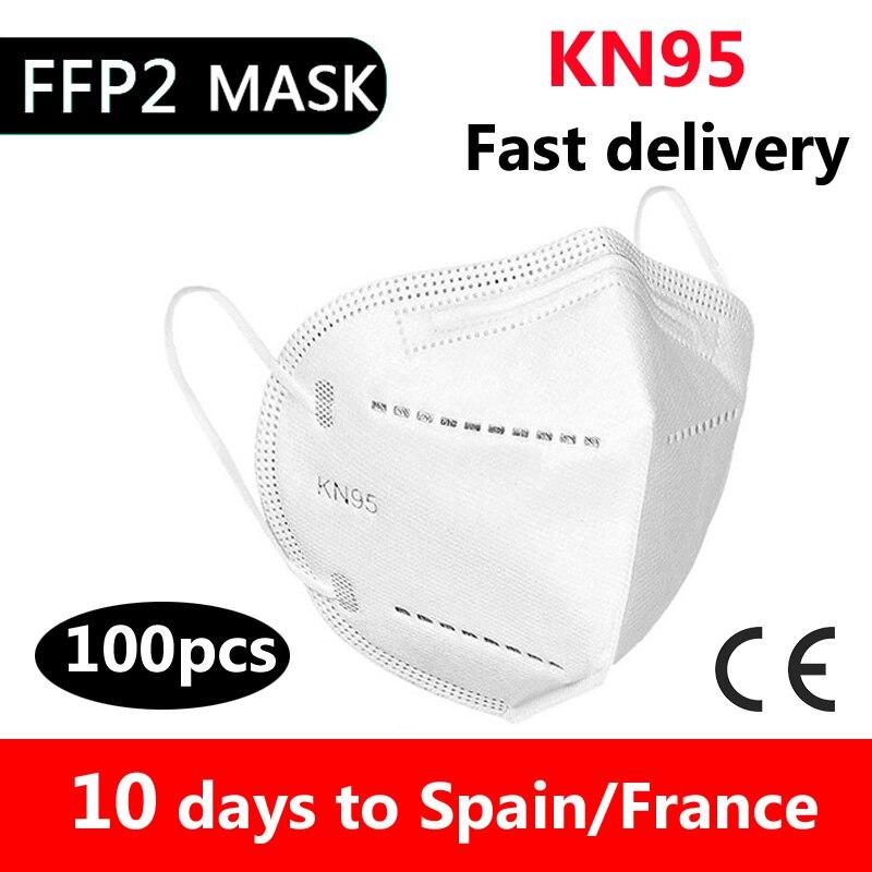 10/50/100 шт маска ce сертифицировано одноразовых взрослый ffp2reutilizable mascherine KN95 Mascarillas маска для лица с изображением рта защитные маски