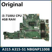 CPU Laptop Motherboard Acer Aspire A315-51 DA0ZAVMB8G0 NBGNP11008 for 4GB-RAM LSC I3-7100u
