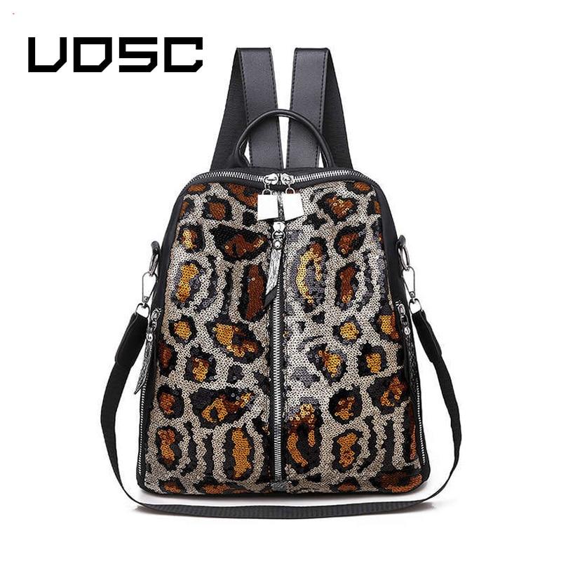 UOSC блесток женские рюкзаки высокого качества Женский рюкзак водонепроницаемый большой емкости женский рюкзак с принтом