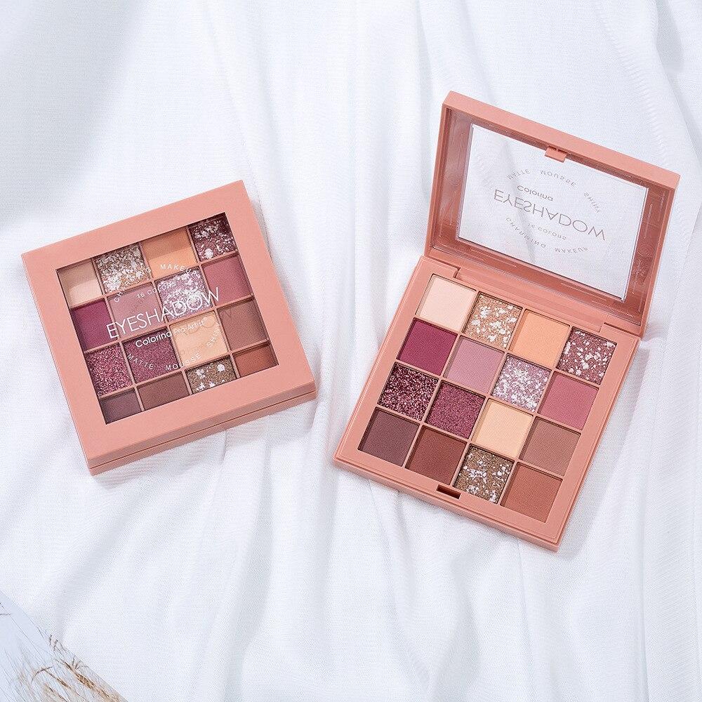 16 Color Republican Matte Shimmer Glitter Pigment Eyeshadow Palette Charming Powder Eye Shadow Pallete Eye Makeup Focallure