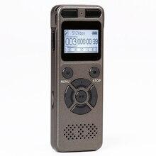 цена на Yulass 8GB USB audio recorder professional big grey business portable digital voice recorder pen support tf card to 64GB