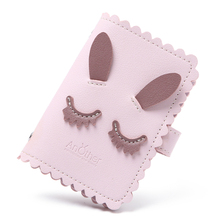 NI WEI ER Cute Smile Leather Function 24 Bits Card Holder Case Business Women Credit Passport Cards Bag ID Passport Wallet 2019 card case credit card holder student cute cartoon id cards women wallet passport business card holder book protector 2018 gift