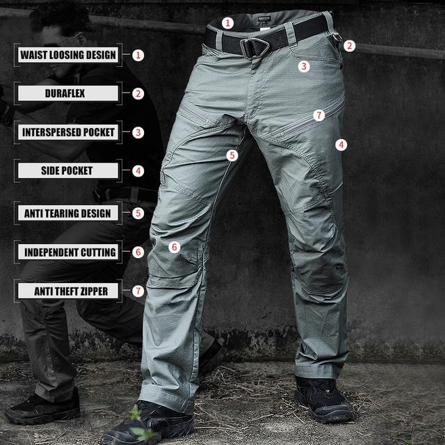 PAVEHAWK Cargo Pants Men Elastic Waterproof Army Tactical Military Hiking Trekking Jogger Casual Trousers Sweatpants Streetwear 3