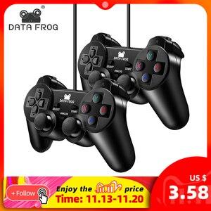 Image 1 - データカエル有線usbゲームコントローラpcコンピュータのラップトップのための振動とジョイスティックゲームパッドwinxp/Win7 8 10ゲームパッド