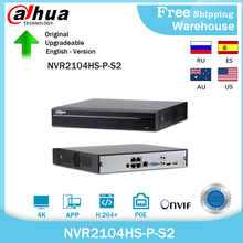 Dahua języku angielskim oryginał NVR2104HS-P-S2 4 kanałowy POE NVR kompaktowy 1U 4PoE sieci wideorejestrator Full HD 6MP NVR