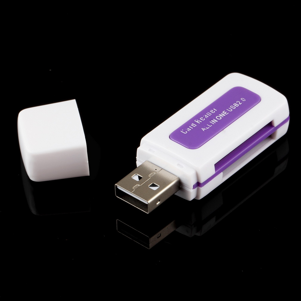 1pcs Protable USB 2.0 4 In 1 Memory Multi Card Reader For SD TF T-Flash M2 Card  C1