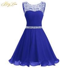 Короткое шифоновое платье для выпускного бала berylove короткие