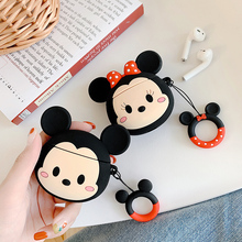 Mickey Minnie Mouse Earphone Case For Airpods 1 2 Silicone Soft Bluetooth Headphone Cover Charging Box