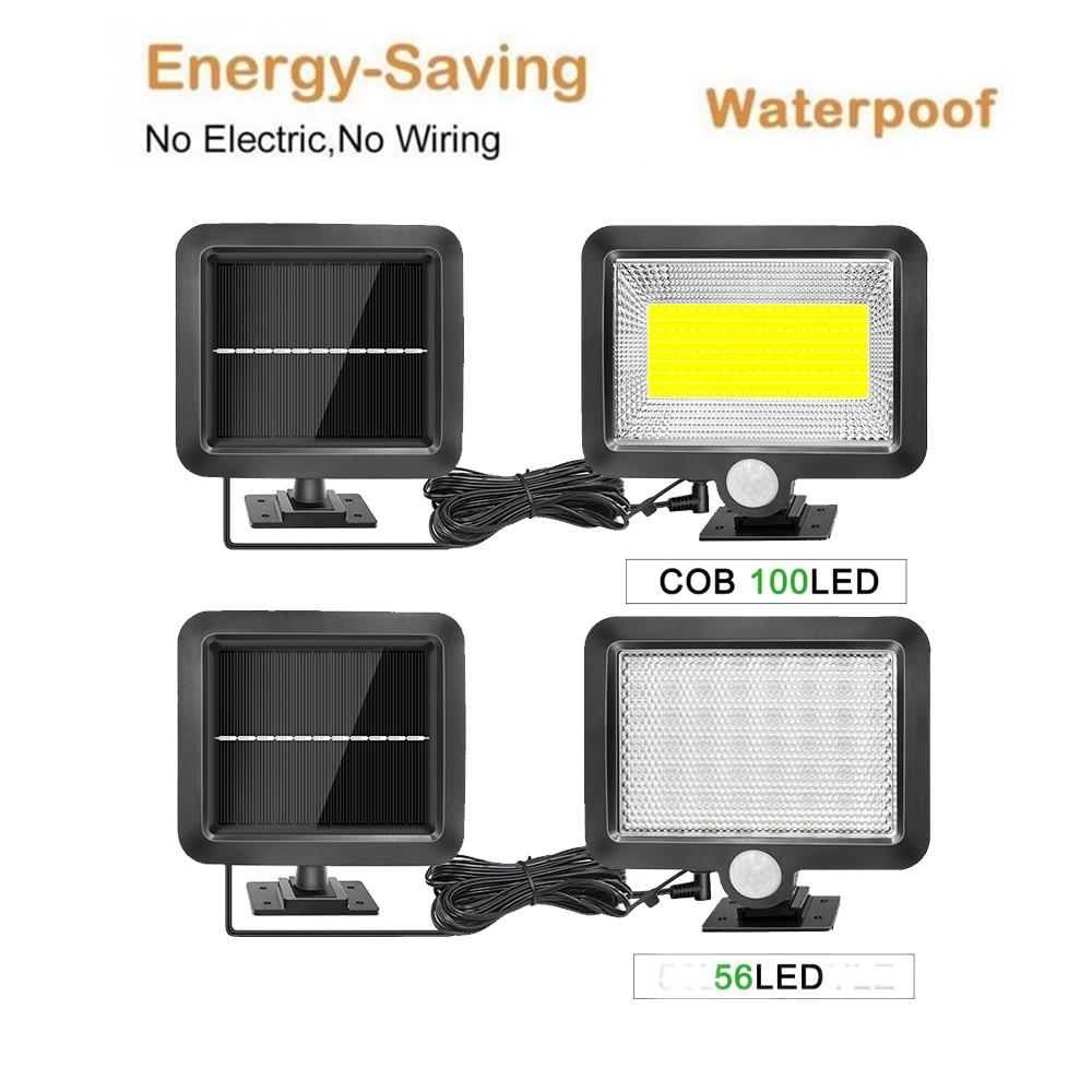 Solar Lamp PIR Motion Sensor Solar Panel Power Wall Lamp Garden Light Waterproof Outdoor Street Path Emergency Security Light Sp