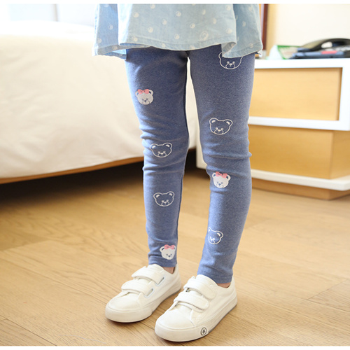 Vidmid Girls Spring And Autumn Bear Cotton Leggings New Korean Version Children's Casual Bottoming Pants Trousers Cothes P206 3