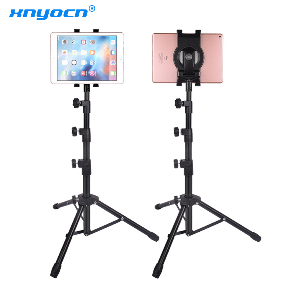 <font><b>150</b></font> cm Tripod Rotation 7-11 Inch Tablet Holder Stand Tripod Stand for Ipad Air Mini 2 <font><b>3</b></font> 4 Samsung Tablet Mount for IPAD Pro 11 image