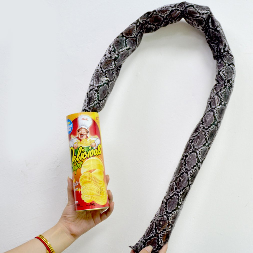 Prank Props Potato Snake Potato Chip Funny Tricky Toys Can Jump Fake Snake For April Fool Day Halloween Party Decoration Hot!