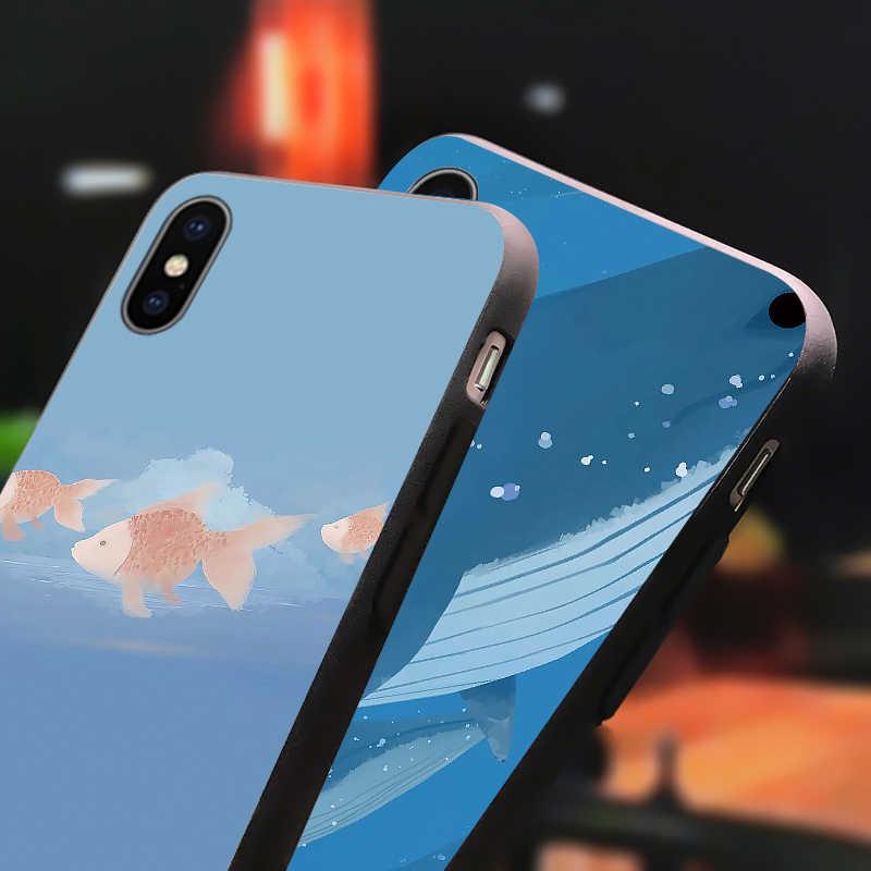 クジラ魚電話ケース oppo リノ 2 z A37 A83 A75 A77 A57 A75 A53 A33 A59 F3 F5 f7 A1 A3 A1K A5 A9 2020 カバーマット tpu キャパ