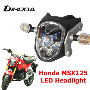 Motorcycle LED Headlight Waterproof Front Fork Light Lamp for Honda Monkey GROM DLR 125 MSX125 MSX125SF 2014 2015 2016|  -