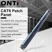 19in 1U Armadio Rack Pass-through Porta 24 CAT6 Patch Panel RJ45 Cavo di Rete Adattatore Keystone Martinetti di Distribuzione Modulare telaio