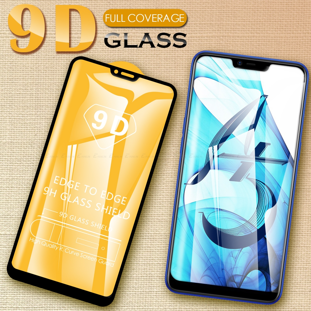 9D Protective Glass Film For Oppo A9 A5 2020 A1k AX7 A7 AX5s AX5 A5s A5 A3s A83 A75 Full Cover Screen Protector Tempered Glass