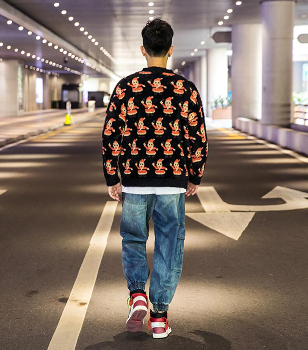 Unisex Sweater Jumpers Fine Knitted Pullover Tops Hip Hop Trend  Casual Outdoor Autumn Winter Christmas For Men Women Youths