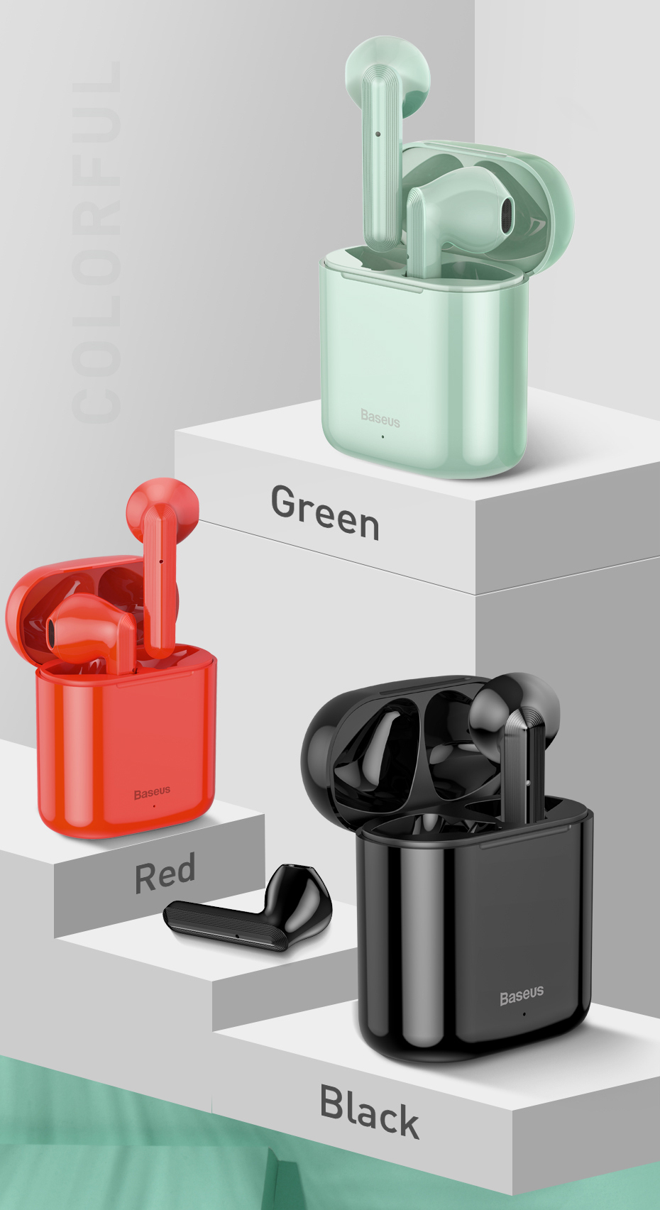 Wireless Bluetooth Earphone Intelligent Touch Control