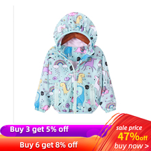 Unicorn Girls Jackets Baby Girl Boy Clothing Spring Children Long Sleeve Print Unicorn Hooded Coat Outerwear Tops Baby Coat cheap Active Polyester Microfiber cartoon REGULAR Turn-down Collar Outerwear Coats Full Fits true to size take your normal size