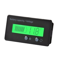 Medidor do calibre do monitor da capacidade da bateria do lcd  indicador de estado acidificado ao chumbo impermeável da bateria 12 v/24 v/36 v/48 v  capacidade da bateria de lítio
