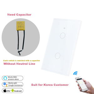Image 3 - Wifi Smart Light Wall Switch Glass Screen Touch Panel 170 250V Remote Wireless Electrical Control work for Alexa Google Home