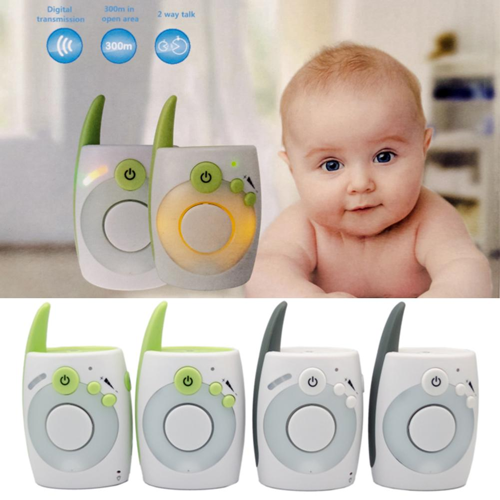 Portable 2.4GHz Wireless Vibrating Sound Talk Back Intercom Audio Baby Monitor