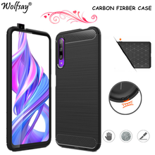 Carbon Fiber Cover For Huawei Y9S 2020 Case Rubber Silicone Bumper Shockproof Case For Huawei Y9S Case For Huawei Y9S Y9 S 6.59 for huawei y9s case cover silicone shockproof hard pc heavy bumper cover for huawei y9s case for huawei y9s y9 s 2020 6 59 inch