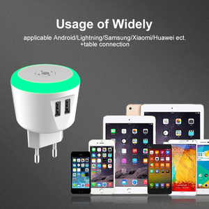 Image 5 - VOXLINK 5V2.4A LED Timer Control Smart travel charger dual usb inductive Charging For iPhone Samsung Xiaomi Mobile Phone Charger