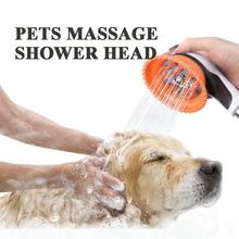 Haustiere Massage Dusche Sprayer Pflege Pinsel Dusche Kopf Bad Hunde Katzen Bad Lieferanten Weiche Reinigen Waschen Pinsel