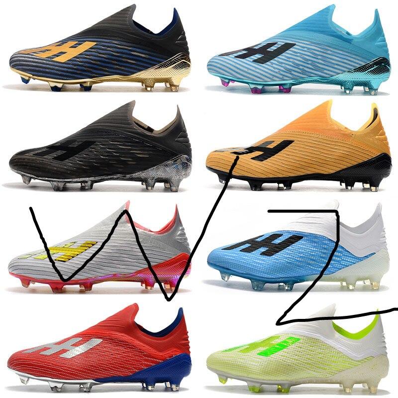 2019 Mens Soccer Cleats X 19+ FG Soccer Shoes Original X 18 Fg Football Boots Outdoor Scarpe Da Calcio High Quality Nemeziz