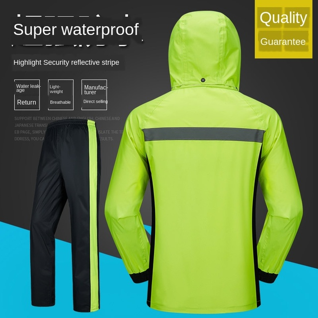 Red Raincoat Rain Pants Suit Jacket Rain Coat Bicycle Riding Motorcycle Raincoat Rain Poncho Hiking Casaco Masculino Gift Ideas 2