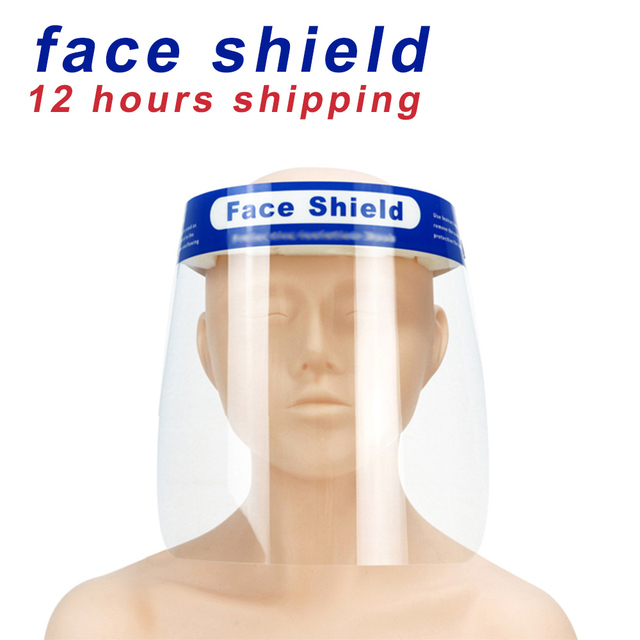 Face Shield Anti droplets Face Shield Protective Cover Full Transparent Eye Protective Face Shield Safety Face Shield 5/10PCS