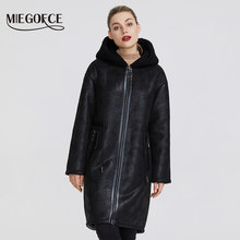 MIEGOFCE 2019 New Winter Women's Collection of Fake Fur Jackets Long Coat Unusual Design of Women's Sheepskin Parka(China)