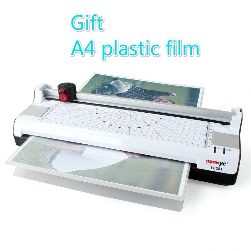 A3 Photo papier Machine à plastifier bureau à domicile Photo Machine à plastifier A4 étanchéité et découpeuse sur Machine à plastifier
