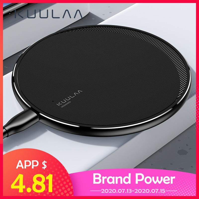 KUULAA Qi Drahtlose Ladegerät Für iPhone 11 Pro 8 X XR XS Max 10W Schnelle Drahtlose Lade für Samsung s10 S9 S8 USB Ladegerät Pad