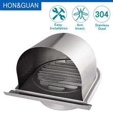 4 inch Stainless Steel Grille Ventilation Hood Home External Extractor Wall Vent Outlet Air Vent Grill Cover Household (100mm)