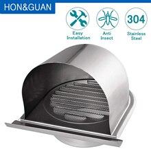 4 بوصة الفولاذ المقاوم للصدأ مصبغة التهوية هود المنزل الخارجي النازع الجدار تنفيس منفذ الهواء تنفيس غطاء الشواية المنزلية (100 مللي متر)