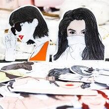 21 Uds. De pegatinas decorativas para diario, Kawaii, a la moda para chicas, impermeables, para manualidades, álbumes de recortes, etiqueta de álbum diario DIY