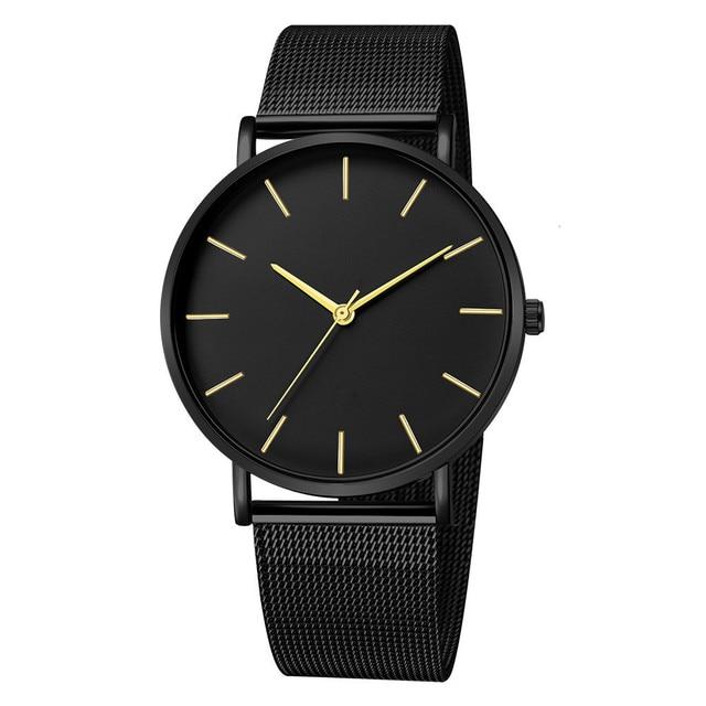 Luxury Mesh Ultra-thin Stainless Steel Quartz Wrist Watch Free Shipping 4