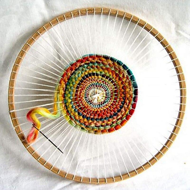 Round Wooden Loom Handmade Knitting Machine Handmade Wall Hanging Decoration Round Knitting Tool Diy Craft