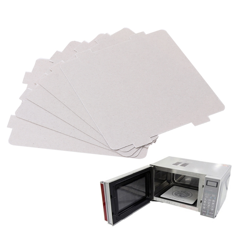 5pcs Mica sheet microwave oven microwave oven mica sheet Home Kitchen Appliance Parts Good heat resistance insulation