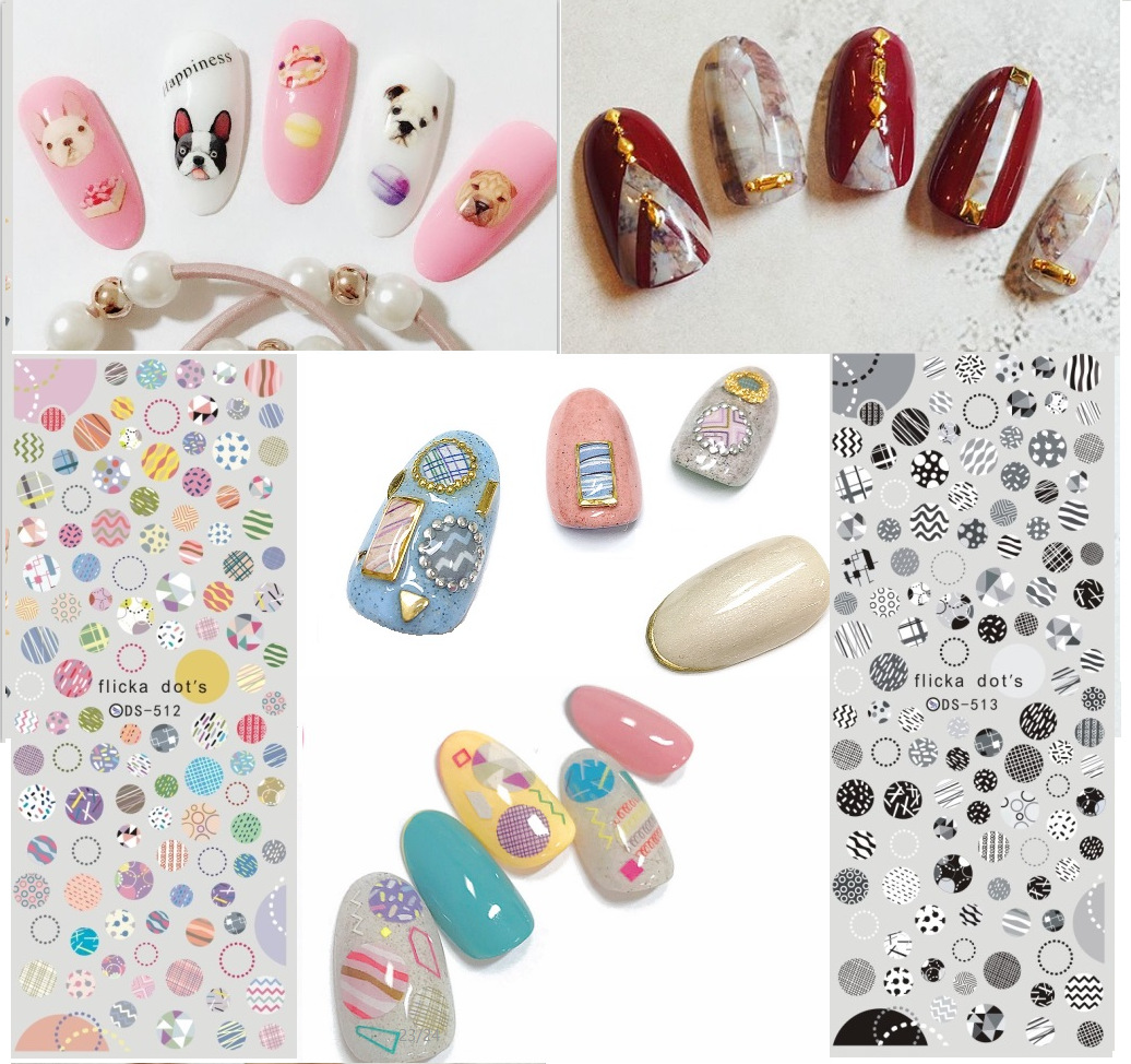 Manicure Watermarking Adhesive Paper Flower Stickers Nail Small Flower Nail Sticker DS506-513